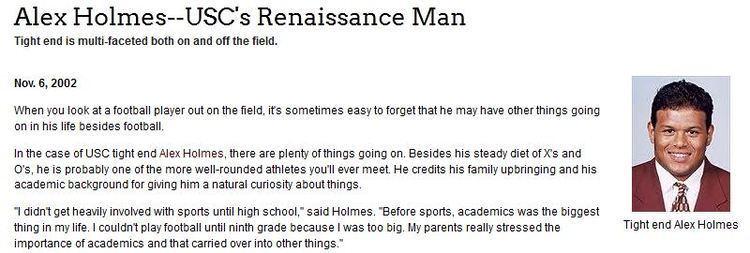 Alex Holmes Alex Holmes I Played Football