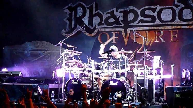 Alex Holzwarth Rhapsody of Fire Drums Solo Alex Holzwarth YouTube