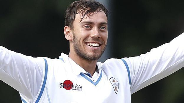 Alex Hughes (cricketer) Derbyshire v Durham Alex Hughes scores century to set up tricky run