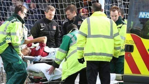 Alex Nicholls (footballer) Northampton Towns Alex Nicholls has surgery on broken leg BBC Sport