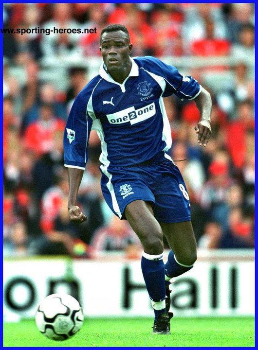 Alex Nyarko Alex NYARKO Premiership Appearances Everton FC