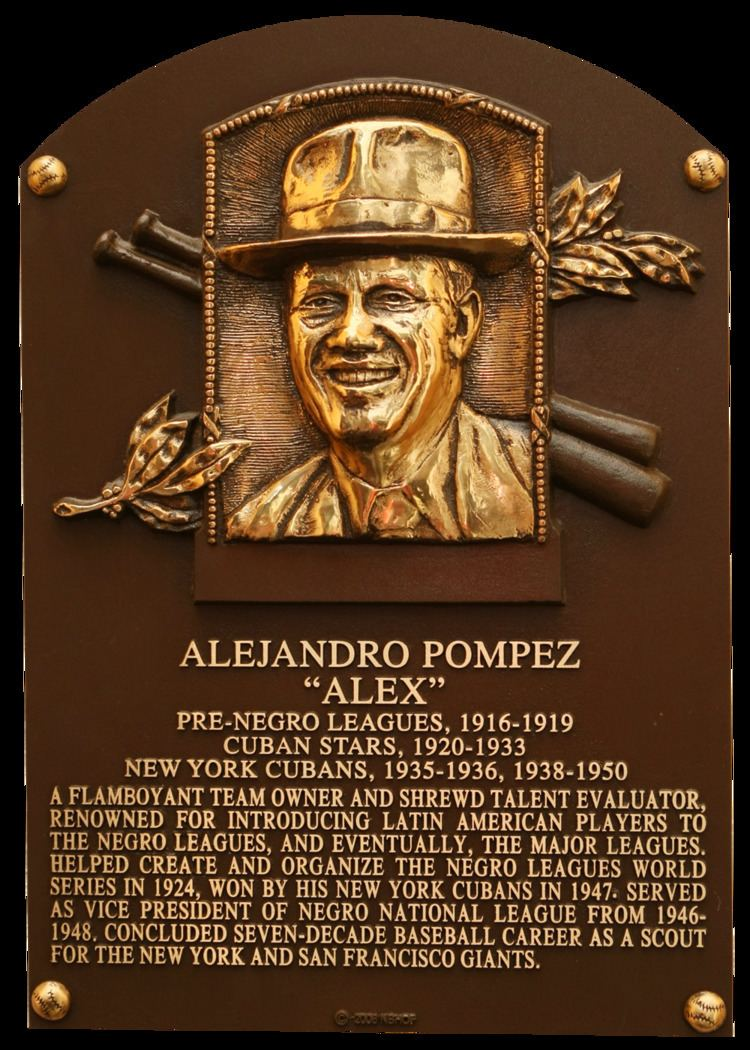 Alex Pompez Pompez Alex Baseball Hall of Fame