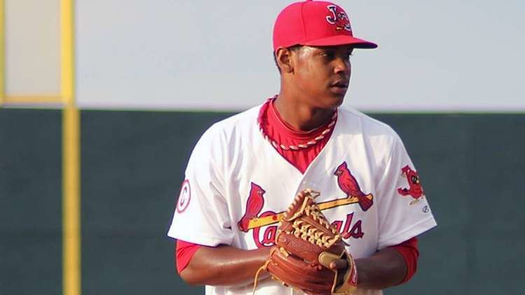 Alex Reyes Cardinals manager Mike Matheny digs in to work with