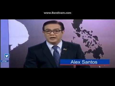 Alex Santos (newscaster) PTV News PTV 4 Alex Santos and Princess Habibah SaripPaudac