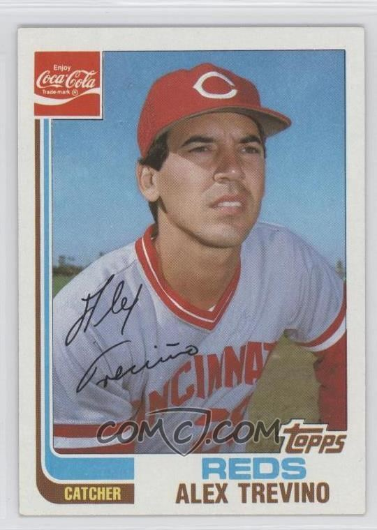 Alex Trevino 1982 Topps CocaCola Team Sets Cincinnati Reds 21 Alex