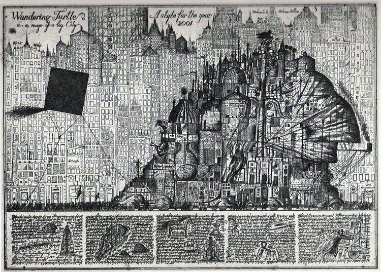 Alexander Brodsky etchings by the paper architects Alexander Brodsky