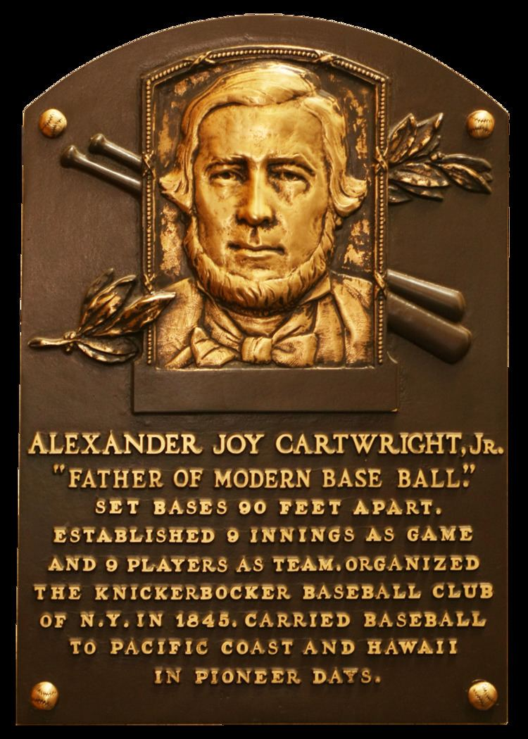 Alexander Cartwright Cartwright Alexander Baseball Hall of Fame