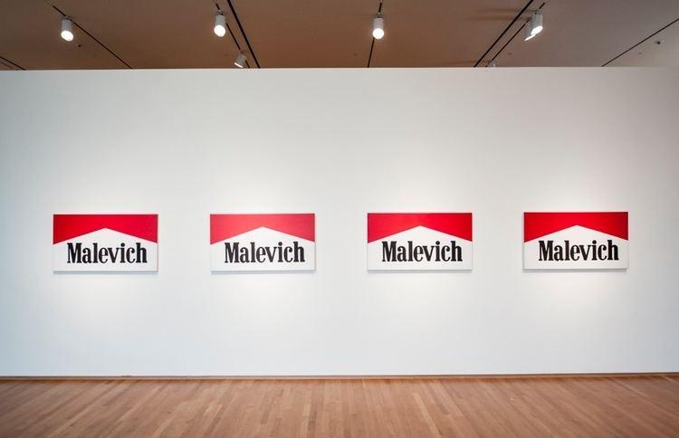 Alexander Kosolapov Work of the Week Malevich Marlboro Series by Alexander