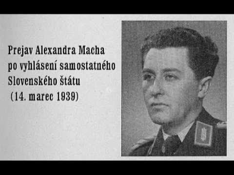 Alexander Mach Alexander Mach s prejavom po vyhlsen samostatnho