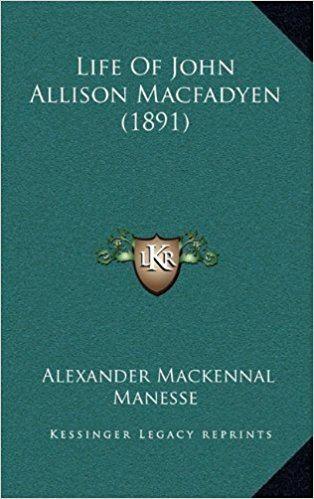 Alexander Mackennal Life Of John Allison Macfadyen 1891 Alexander Mackennal Manesse
