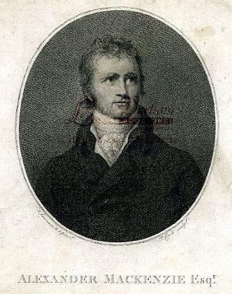 Alexander Mackenzie (explorer) Explorer Alexander MacKenzie An Antique Original