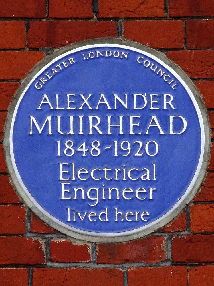 Alexander Muirhead FileALEXANDER MUIRHEAD 18481920 Electrical Engineer lived herejpg