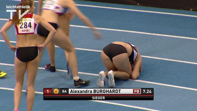 Alexandra Burghardt Alexandra Burghardt bleibt erstmals unter HallenEMNorm Das
