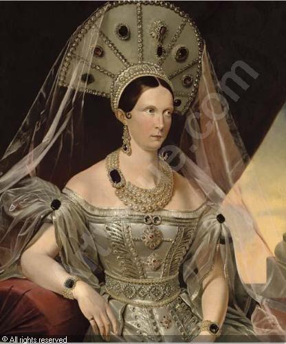 Alexandra Feodorovna (Charlotte of Prussia) Portrait of Empress Alexandra Feodorovna ne Princess