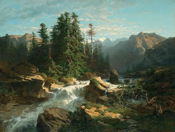 Alexandre Calame Turner to Monet Alexandre CALAME Torrent in the Alps