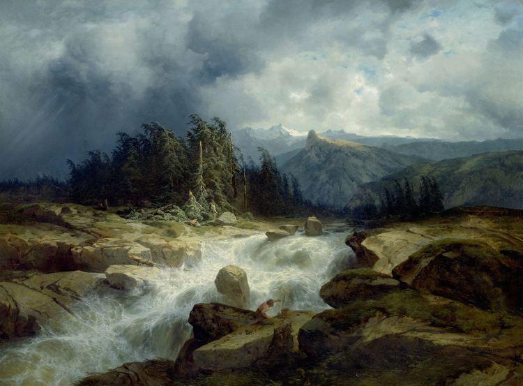 Alexandre Calame FileAlexandre Calame Torrent de montagne par orage 1848