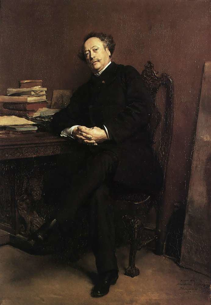 Alexandre Dumas, fils Alexandre Dumas fils Ernest Meissonier WikiArtorg