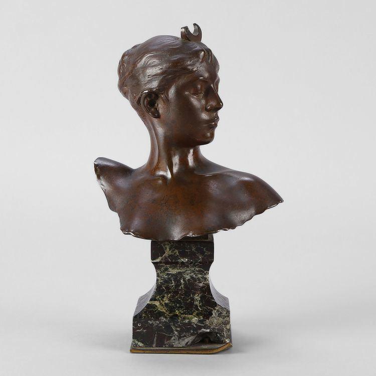 Alexandre Falguière Alexandre Falguire Bronze bust of Diana the huntress Expertissim