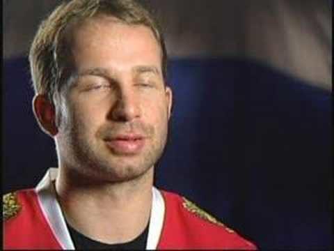 Alexei Zhitnik Alexei Zhitnik 2006 Olympics Hockey Interview Team Russia