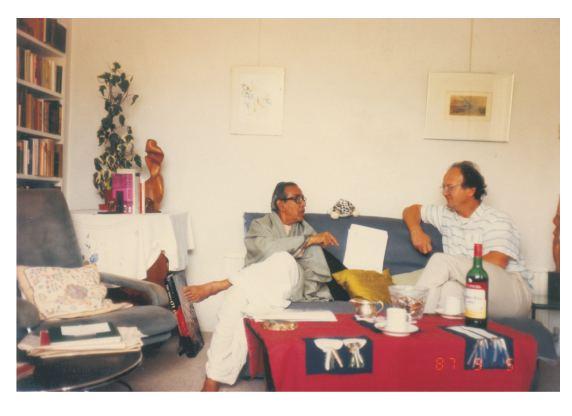 Alexis Sanderson Pandit Vrajvallabh Dwivedi and Prof Alexis Sanderson in 1987