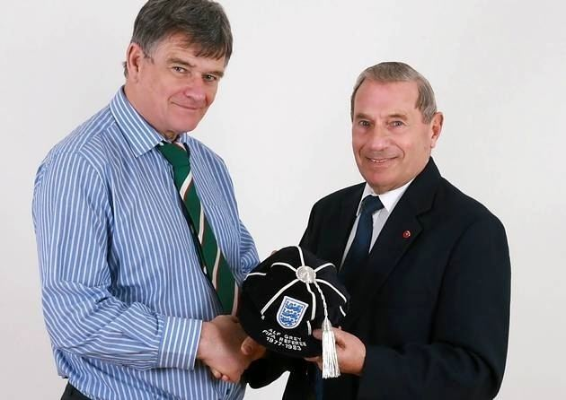 Alf Grey Yarmouth referee Alf Grey receives England cap Norwich City FC and