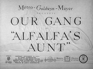 Alfalfas Aunt movie poster