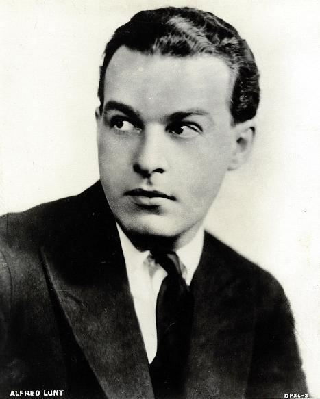 Alfred Lunt Alfred Lunt
