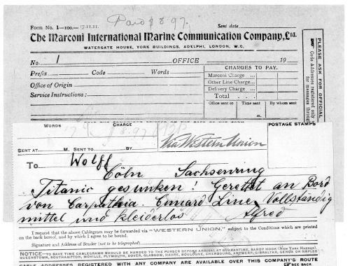 Alfred Nourney Nourney Titanic Telegram