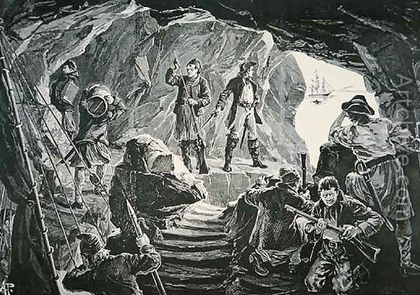 Alfred Pearse The Smugglers Cave reproduction by Alfred Pearse Artchivecom