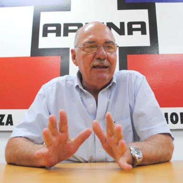 Alfredo Cristiani Cristiani resigns as president of ARENA as divisions prompt internal
