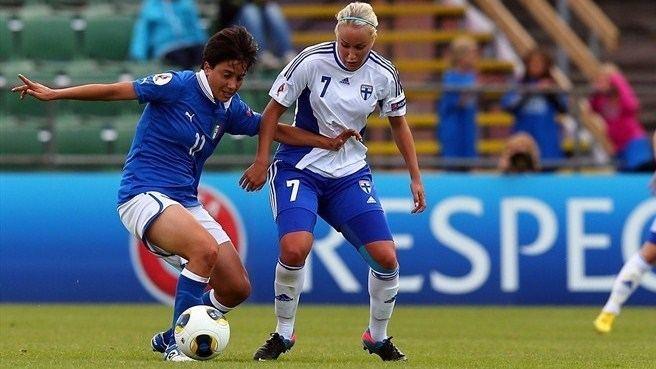 Alice Parisi Alice Parisi Italy Annika Kukkonen Finland UEFA Womens EURO