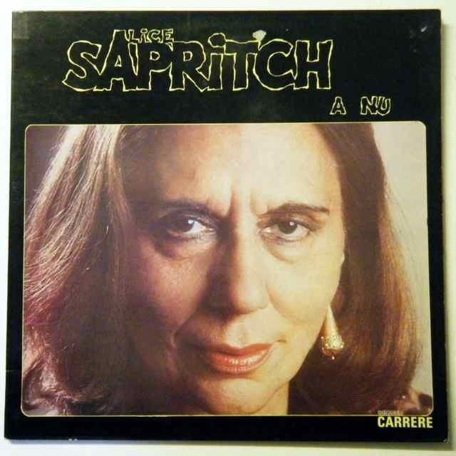 Alice Sapritch a nu by ALICE SAPRITCH LP Gatefold with diskeklektik