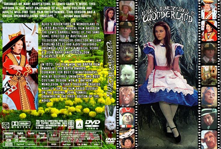 Alice's Adventures in Wonderland (1972 film) Alices Adventures in Wonderland 1972 DVD cover by BlackBattlecat on