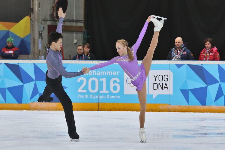 Alina Ustimkina FileLillehammer 2016 Figure Skating Pairs Short Program Alina