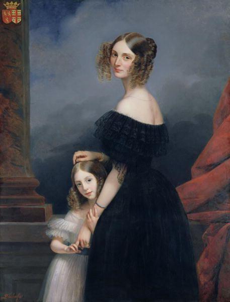 Alix de Montmorency FileAnneLouise Alix de Montmorency with her daughter c1840jpg