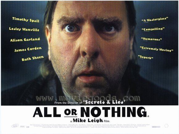 All or Nothing (film) All or Nothing Movie Posters From Movie Poster Shop