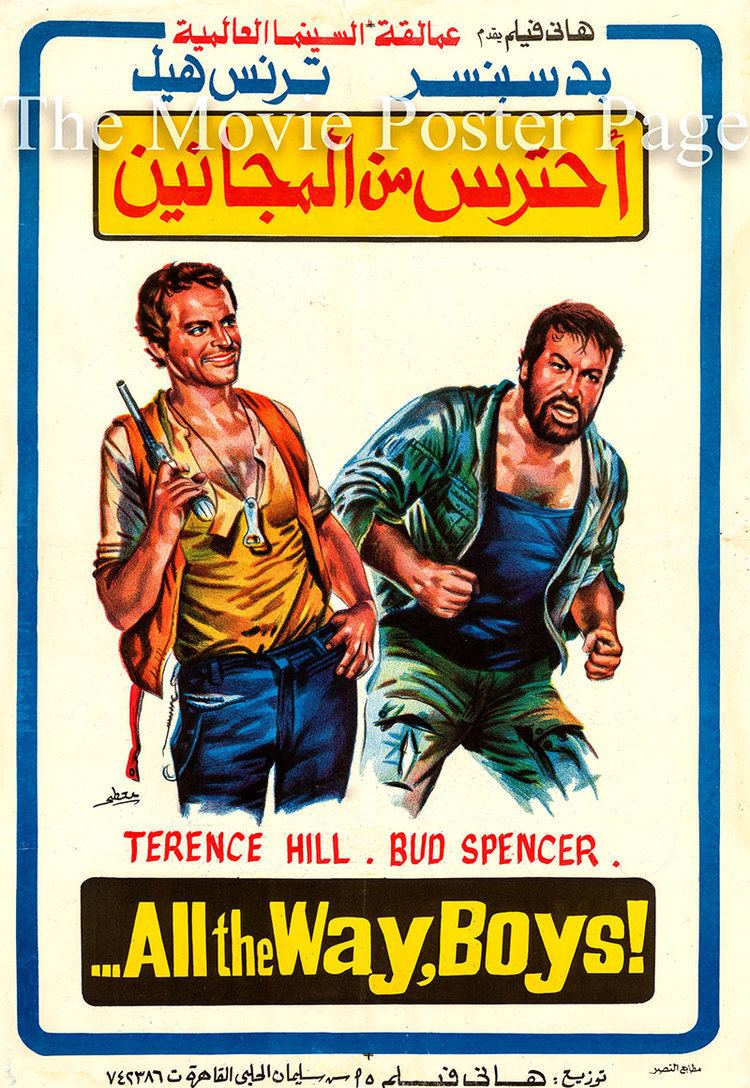 ... All the Way, Boys! All the Way Boys 1972 Terence Hill Egyptian film poster F NM