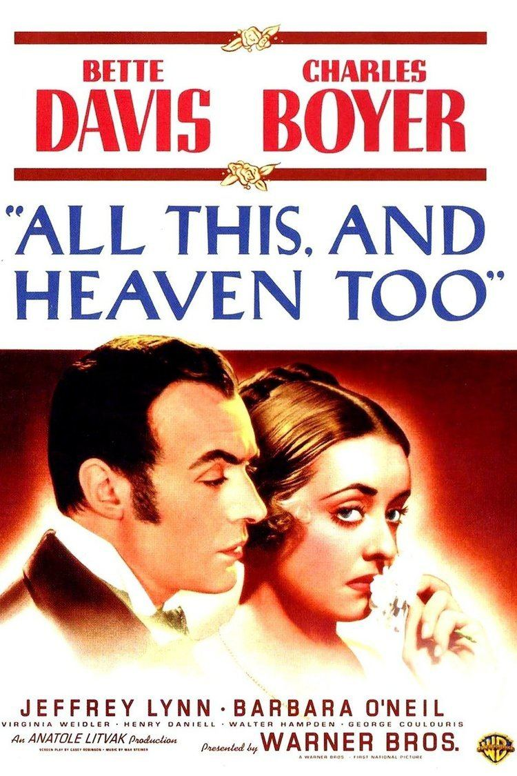 All This, and Heaven Too wwwgstaticcomtvthumbmovieposters6187p6187p