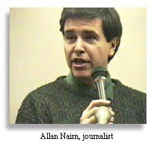 Allan Nairn Journalist Allan Nairn witnessed the massacre