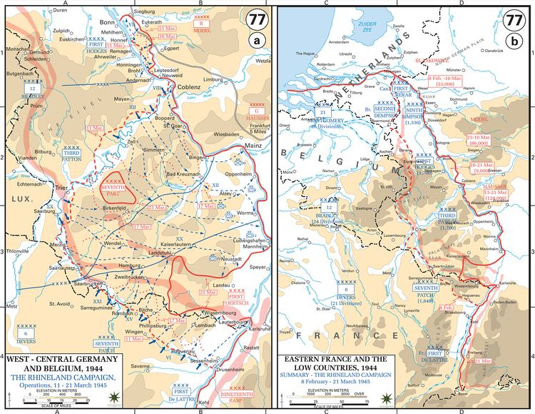 Allied advance from Paris to the Rhine wwwemersonkentcomimagesrhinelandcampaign2jpg