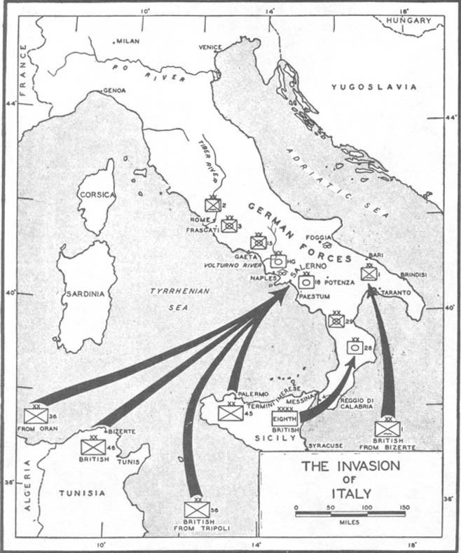 Allied invasion of Italy Salerno Preparations for Invasion