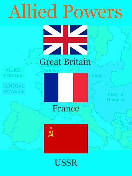 Allies of World War I wwwhistoryforkidsnetimagesalliedpowersjpg
