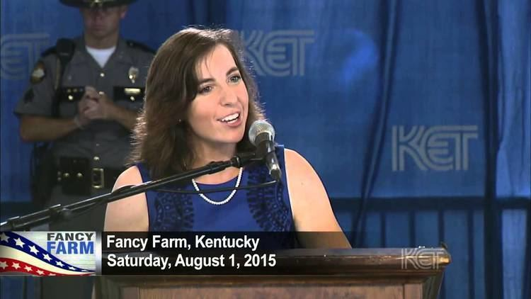 Allison Ball Candidate for Ky Treasurer Allison Ball R Fancy Farm 2015 KET