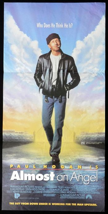 Almost an Angel ALMOST AN ANGEL Daybill Movie Poster Paul Hogan
