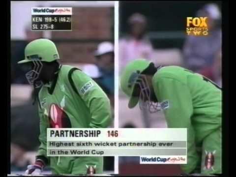 Maurice OdumbeAlpesh Vadher partnership vs Sri Lanka 1999 YouTube