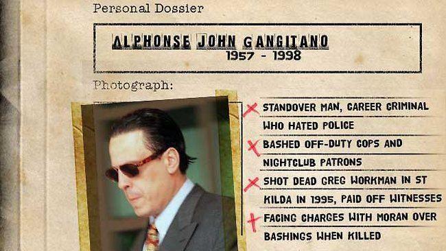 Alphonse Gangitano Charlie Bezzina Jason Moran and the 39smoking gun39 in the