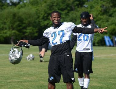 Alphonso Smith Cornerbacks Alphonso Smith and Justin Miller workout for