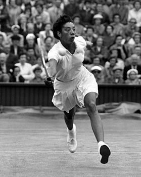 Althea Gibson Tennis Sports in Black and White