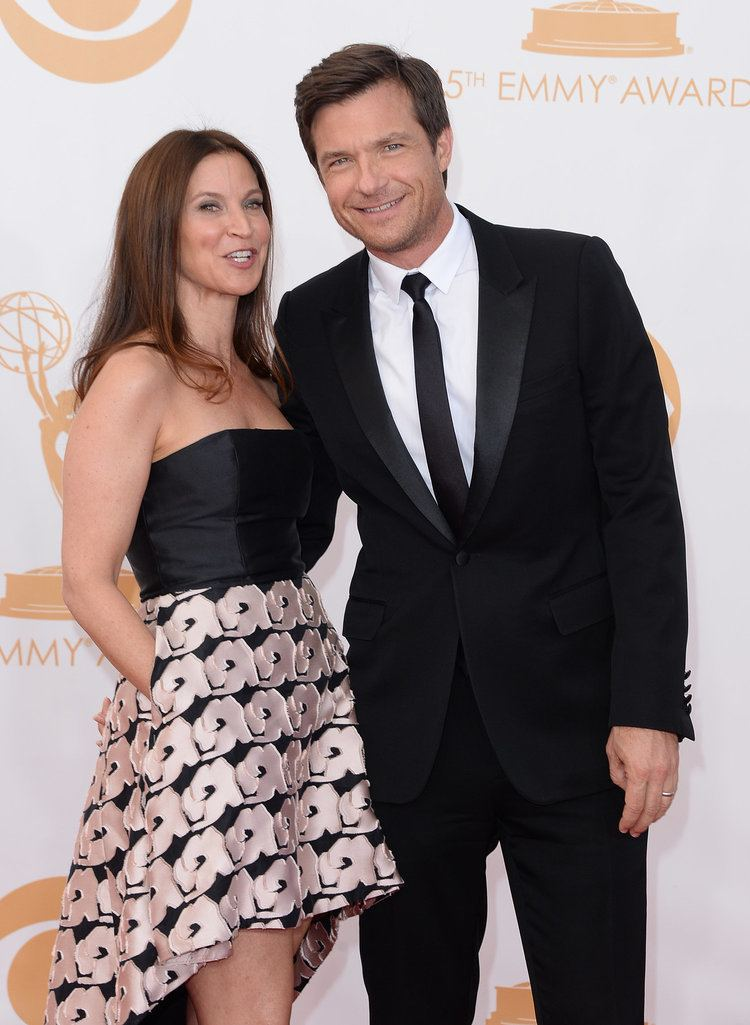 Amanda Anka Jason Bateman and his wife Amanda Anka hit the Emmys red