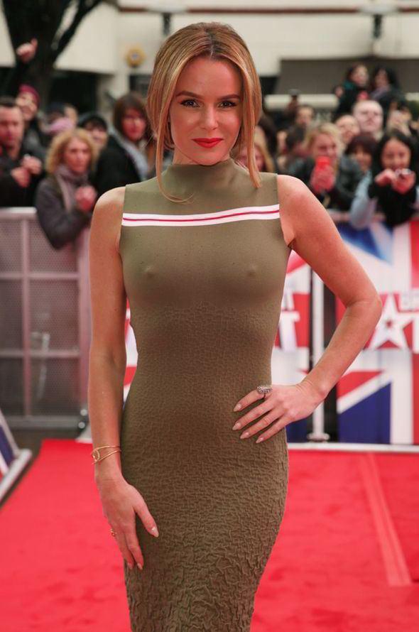 Amanda Holden Amanda Holden flaunts her nipples at Britain39s Got Talent